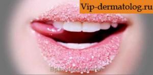 шелушении кожи вокруг рта и губ